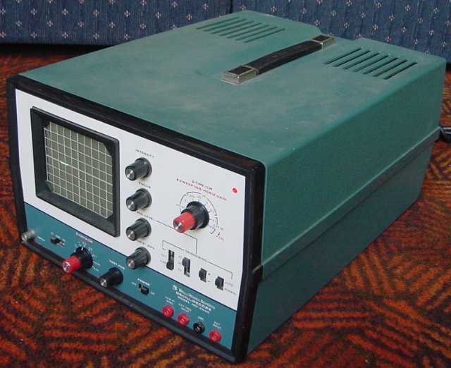 Amp On An Oscilloscope : Bell howell oscilloscope ebay