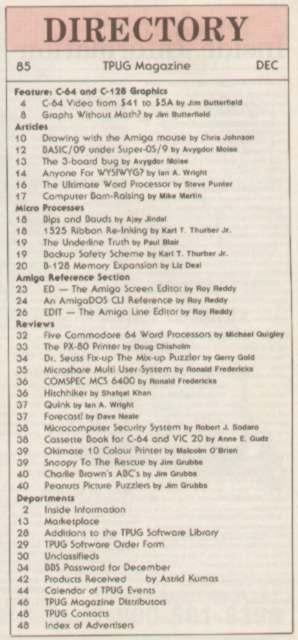 Issue Dec 1985 Content