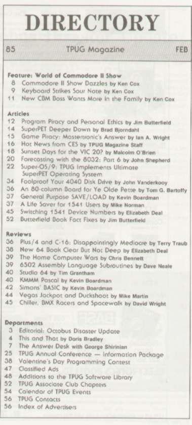 Issue Feb 1985 Content