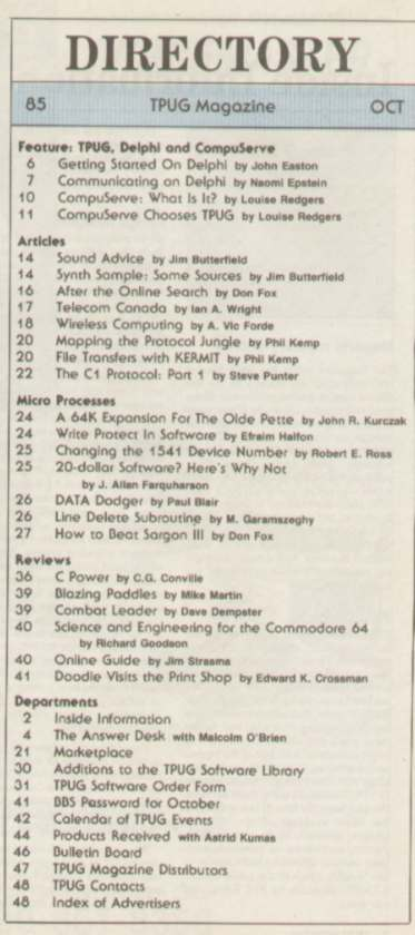 Issue Oct 1985 Content